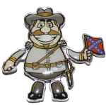 Confederate Officer Fun Moving Magnet